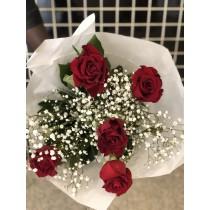 Bouquet de 5 roses